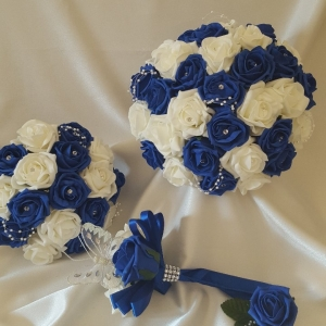 royal-blue-and-ivory-artificial-wedding-flowers