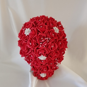 brides-artificial-red-rose-teardop-bouquet