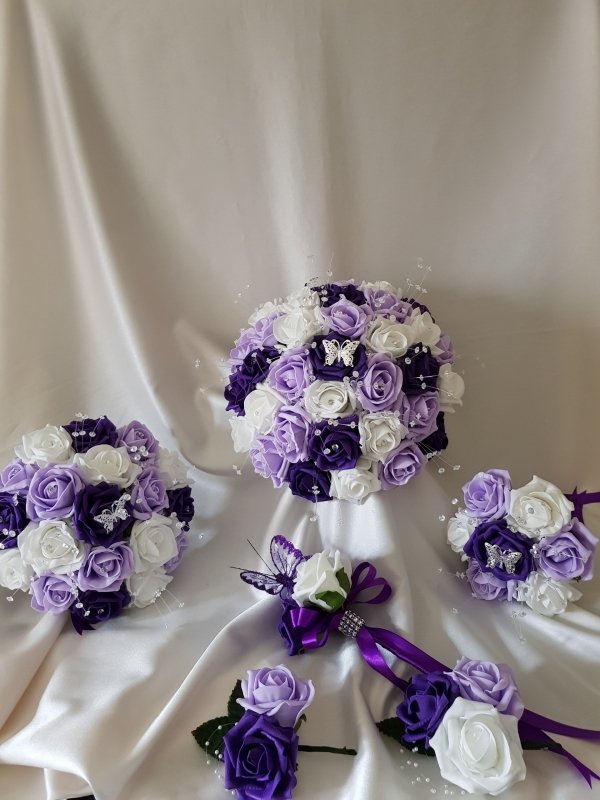 cadbury-purple-butterfly-wedding-flowers