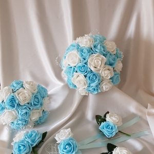 aqua-white-wedding-flower-package