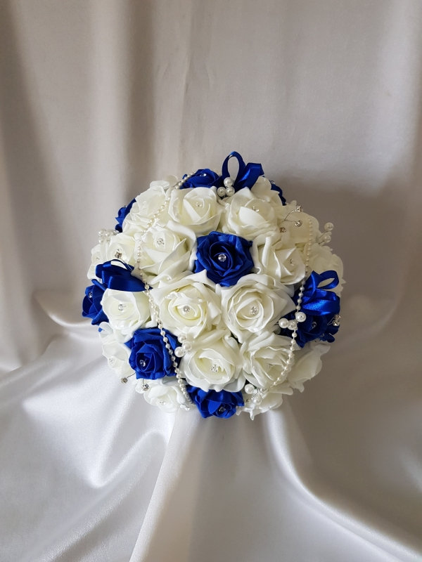 round-brides-bouquet-royal-blue-and-ivory