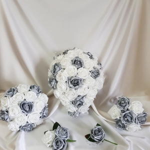 silver-and-white-artificial-flower-package