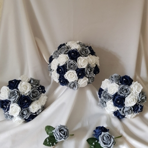 navy-grey-white-artificial-wedding-flowers
