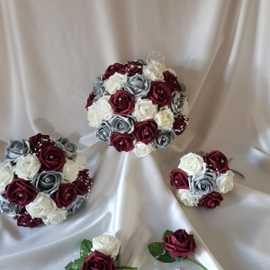 burgundy-silver-ivory-wedding-flowers