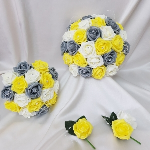 yellow-grey-wedding-flower-package