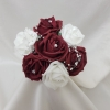 burgundy-and-white-artificial-childs-posy