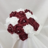 burgundy-and-white-artificial-bridesmaid-bouquet