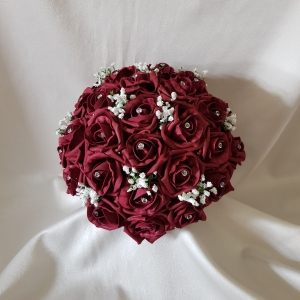 burgundy-rose-brides-bouquet-gypsophila