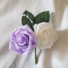 double-buttonhole-lilac-white