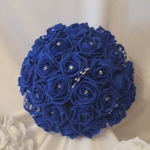 royal-blue-brides-artificial-rose-bouquet