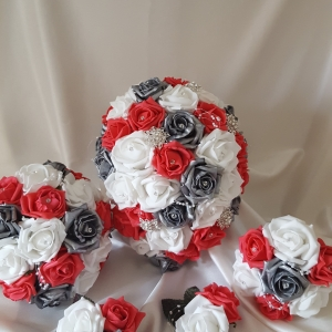 coral-silver-artificial-wedding-flowers