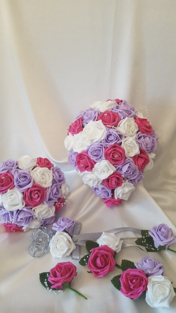 hot-pink-lilac-wedding-flowers
