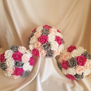 hot-pink-grey-wedding-flowers