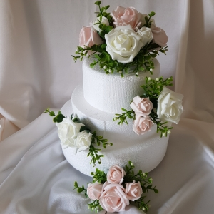 baby-pink-white-wedding-cake-topper