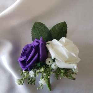 cadbury-purple-ivory-double-buttonhole