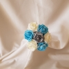 turquoise-grey-flower-girl-bouquet