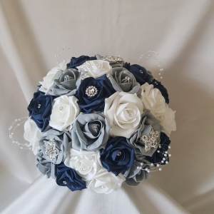 navy-grey-brooch-brides-bouquet